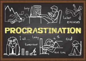 doodles-about-procrastination-on-chalkboard